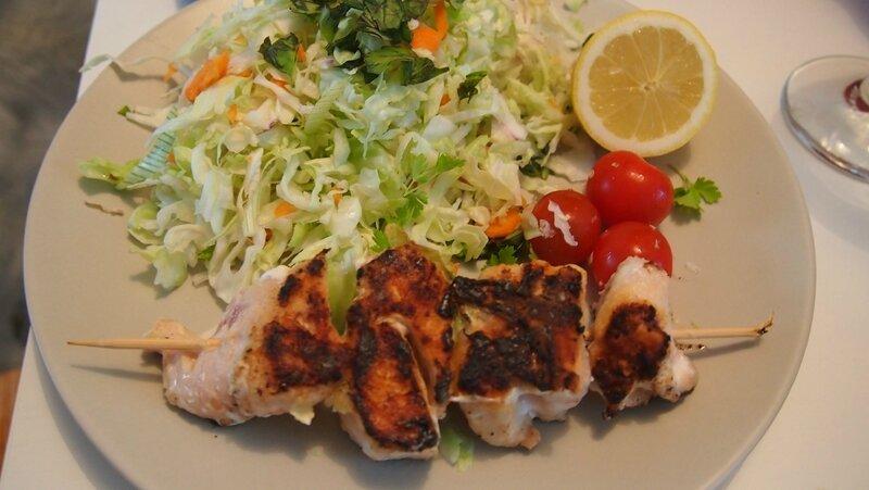 Saumon à la salade fraicheur- lesdelicesdemeli