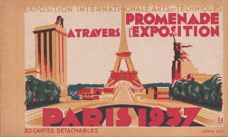 Carnet CPA Paris Expo international 1937