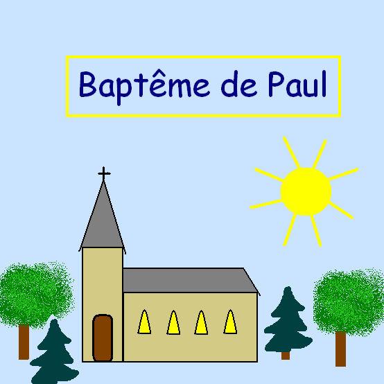 Couv baptême de Paul