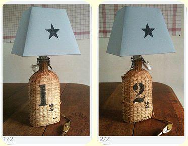Lampes Gourdes paillées - 1