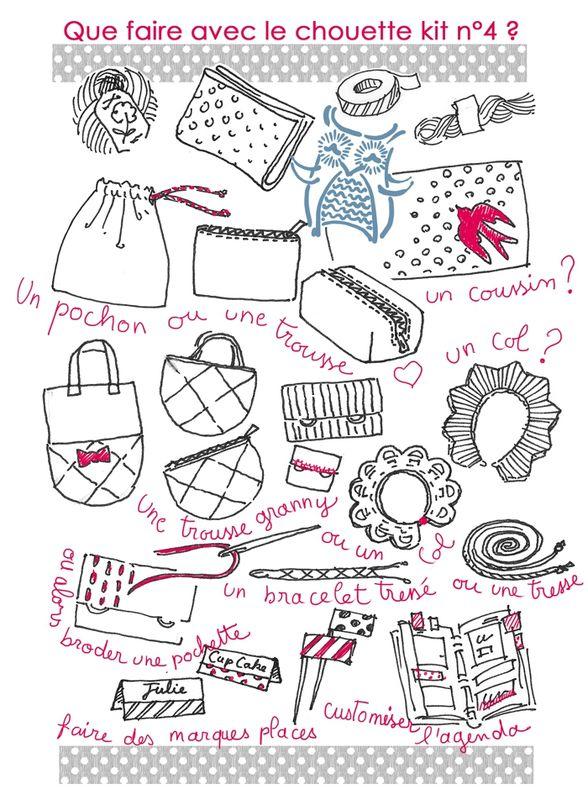 Chouette Kit Une Pochette Pleine De Jolis Projets à Faire