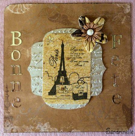 carte bonne fête tour Eiffel