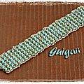 Bracelet Dramatic cuff turquoise picasso