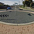 Rond-point à park grove (tasmanie)