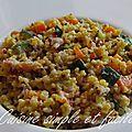 Quinoa au lard, légumes et ricotta