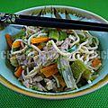 Nouilles chinoises au porc et aux légumes