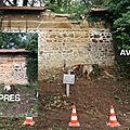 Fin de chantier sur le mur en pise