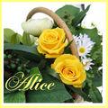 bouquet de mariée roses stabilisées - panier des champs ALICE
