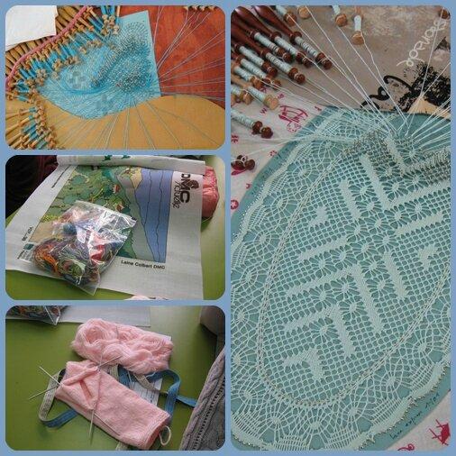 du tricot, en passant par la tapisserie et la dentelle aux fuseaux