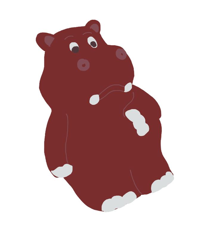 Pâques chocolat hippopotame