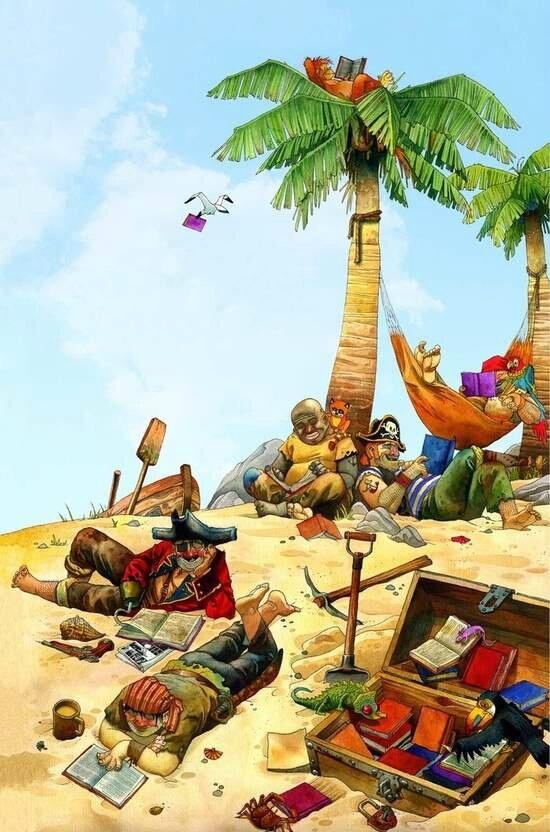pirate readers by ~RicardoPelaez on deviantART