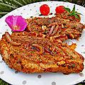 Magret de canard à la sauce pistou/pesto à la tomate cuisson à la plancha