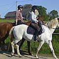 balade à cheval médiévale - Abbaye de Hambye (9)