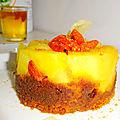 Mini gâteaux renversés aux pommes - spéculos - baies de goji