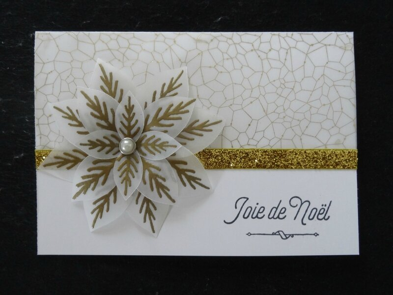 Carte fleur festive