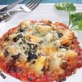 Mini-pizza au thon et moules
