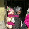 Une tibétaine et son enfant