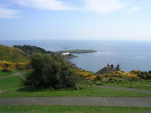 La vue en haut du parc, vers le nord