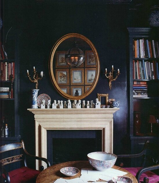 black-room-interior-paint-color-palette-fireplace finding shib