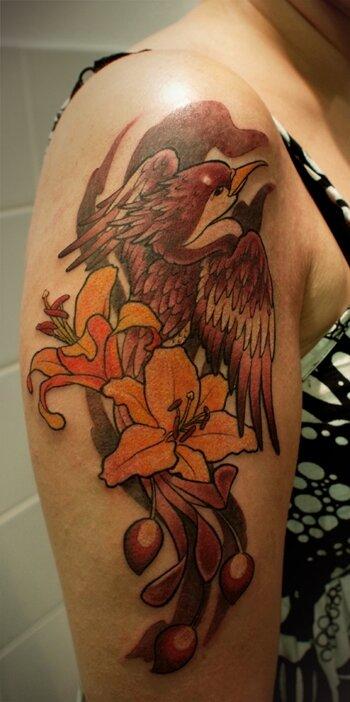oiseau fleur couleur