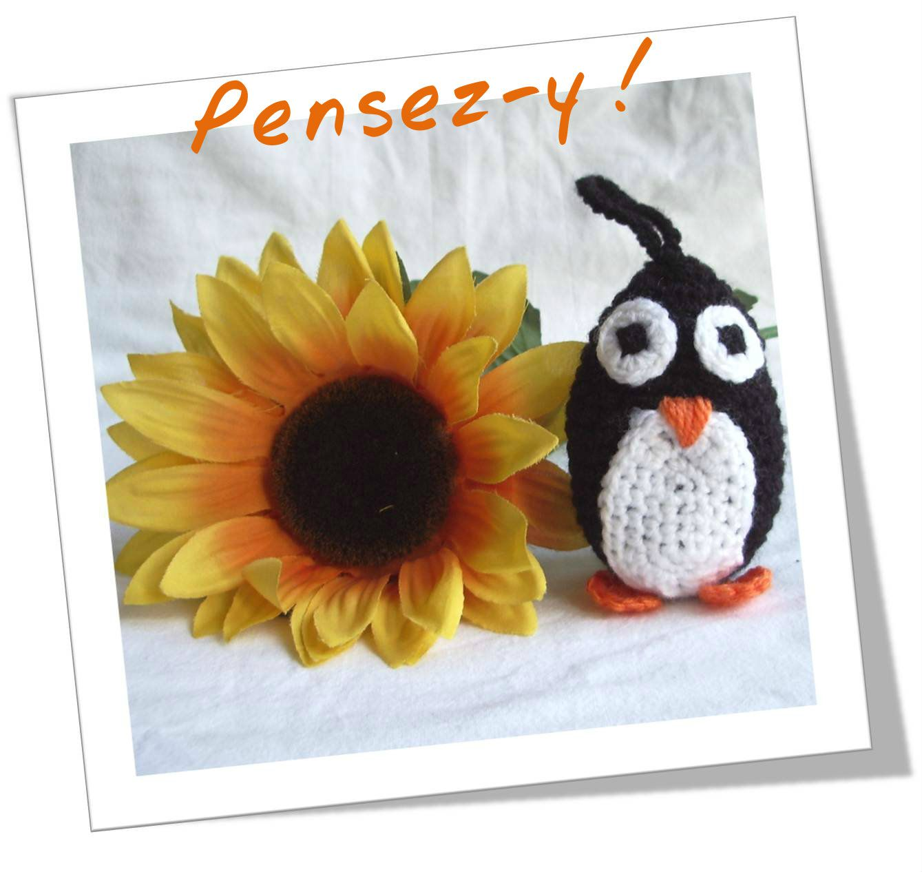 Pingouin crochet fleur01R