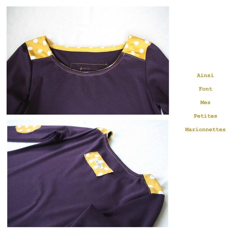 robe violette jaune 4