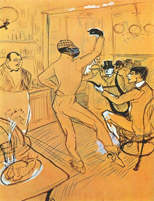 Lautrec Chocolat dansant à l'irish american bar 1896