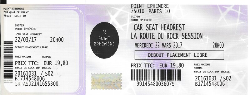 2017 03 22 Car Seat Headrest Divan du Monde Billet