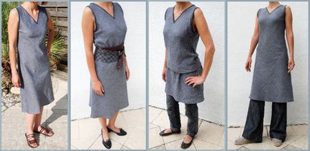 robe jean 4 versions