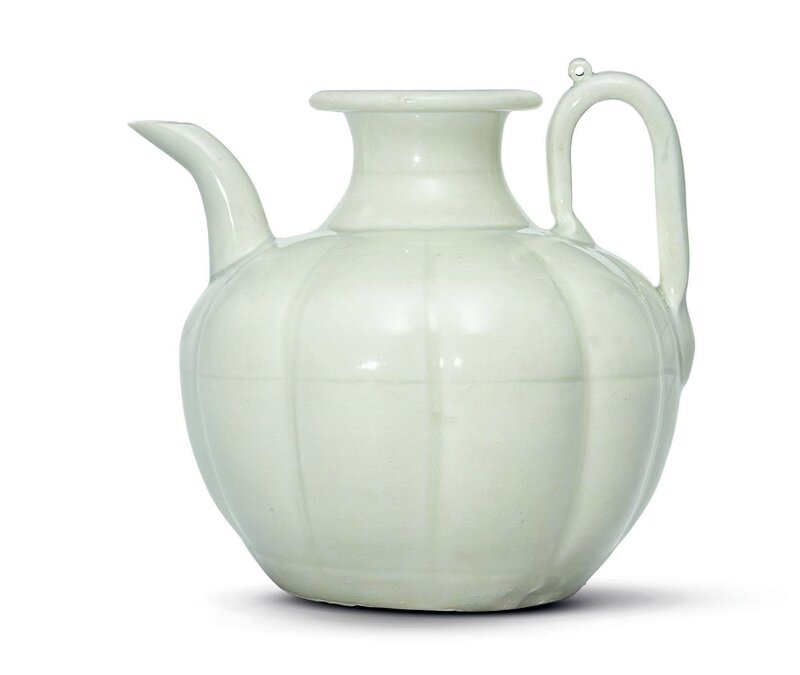 A Qingbai, melon-form ewer, Northern Song dynasty, 11th-12th century