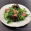 Salade de chèvre chaud aux figues rôties au miel