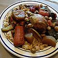 Couscous au poulet et 7 légumes