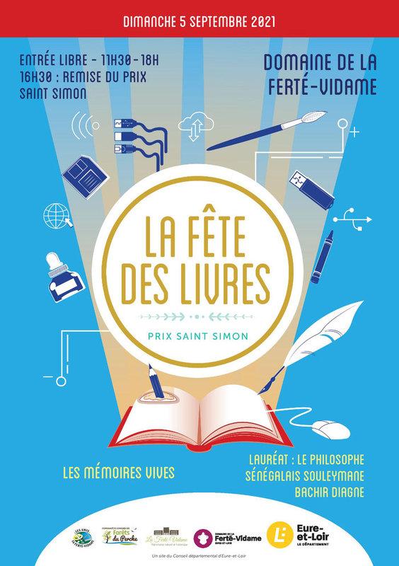 Affiche fête LIvres La Ferté-Vidame