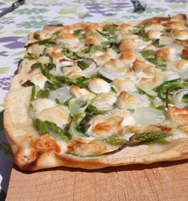 pizza asperges sauvages