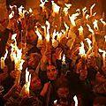 Miracle : feu de l'esprit saint au saint-sépulcre