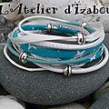 Je vous propose du ciel bleu dans ce bracelet multimatières turquoise et blanc ! reviens soleil, reviens !!!!!