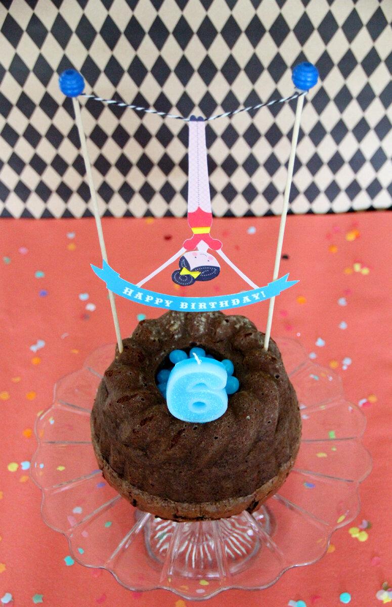 Happy Birthday Circus Party En Piste Les Cakes Toppers Gratuit A Imprimer C Est Encore Un Peu Noel