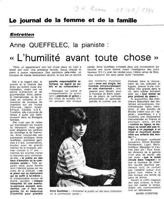 Ouest France 18 Janvier 1984