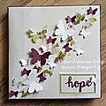 Toile envolée de papillons idylle fleurie