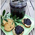 Tapenade aux olives noires à la grecque