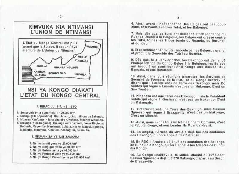 POURQUOI LES BAKONGO DEMANDENT L'INDEPENDANCE DU KONGO CENTRAL b