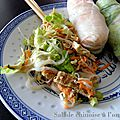 Salade chinoise a l'omelette