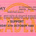 The sugarcubes - jeudi 27 octobre 1989 - brixton academy (london)