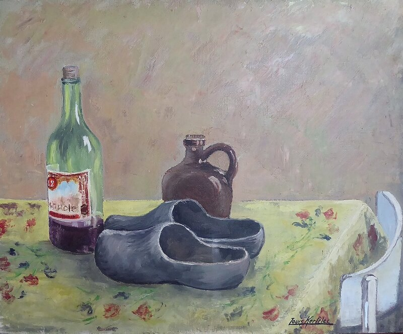 Nature morte aux sabots 50x61