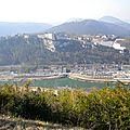 La citadelle de Besançon depuis le fort Bregille