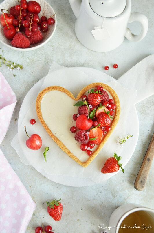 tarte coeur vegan amande panna cotta fruits rouges (3)
