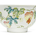 A famille-rose 'balsam pear' bowl, daoguang seal mark and period (1821-1850)