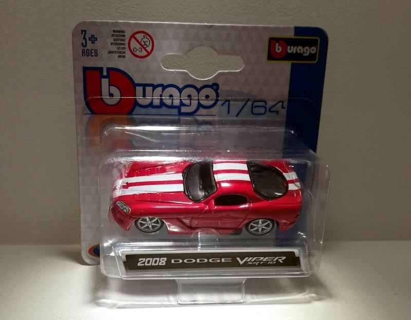 Dodge viper SRT10 de 2008 (Bburago)