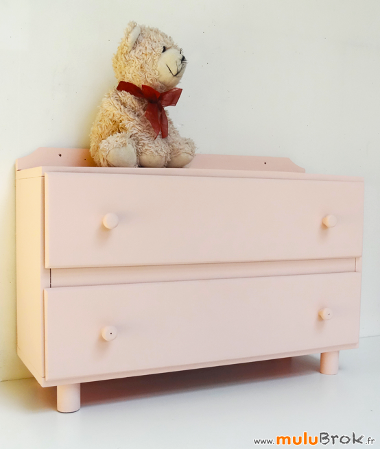 Ancienne-COMMODE-POUPEE-Rose-3-muluBrok-Vintage