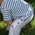 jersey marin rayé bleu